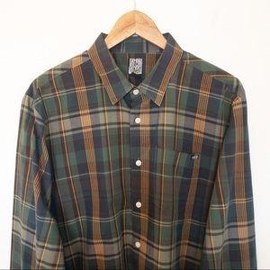 Volcom Men Size L Plaid Shirt Skater Long Sleeve